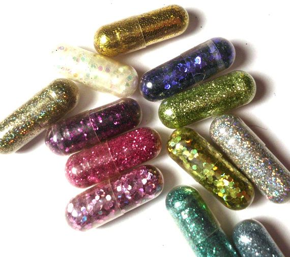SALE 10 Glitter Pills Glitter Pill New Year's by GustavosGoods