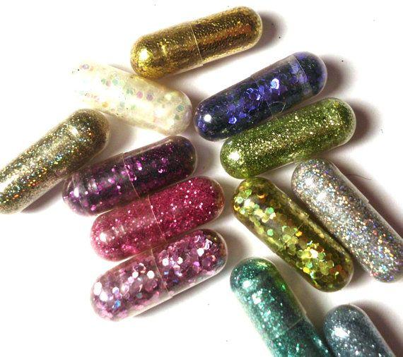 Make your poop glitter #glitterpoop #glitterpills Glitter Pills Glitter Pill Sparkle Pill 10 Pills by GustavosGoods
