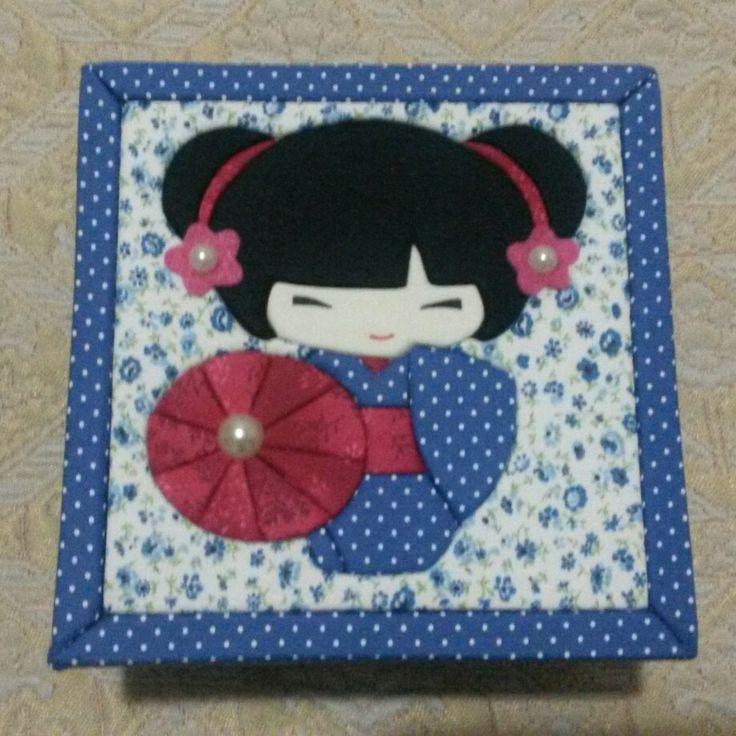 Caixa com patchwork embutido JAPONESA