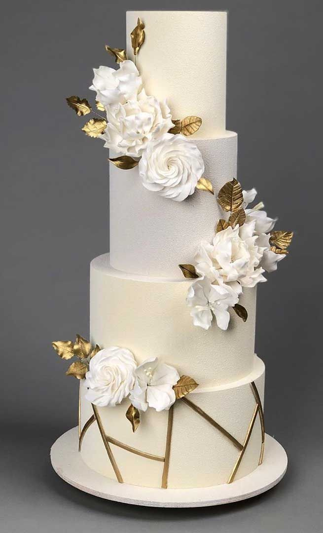 79 Wedding Cakes That Are Really Pretty In 2021 Modern Wedding Cake Gold Wedding Cake Pretty Wedding Cakes