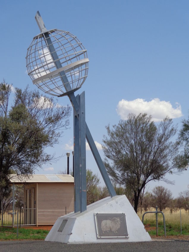The Tropic of Capricorn marker.