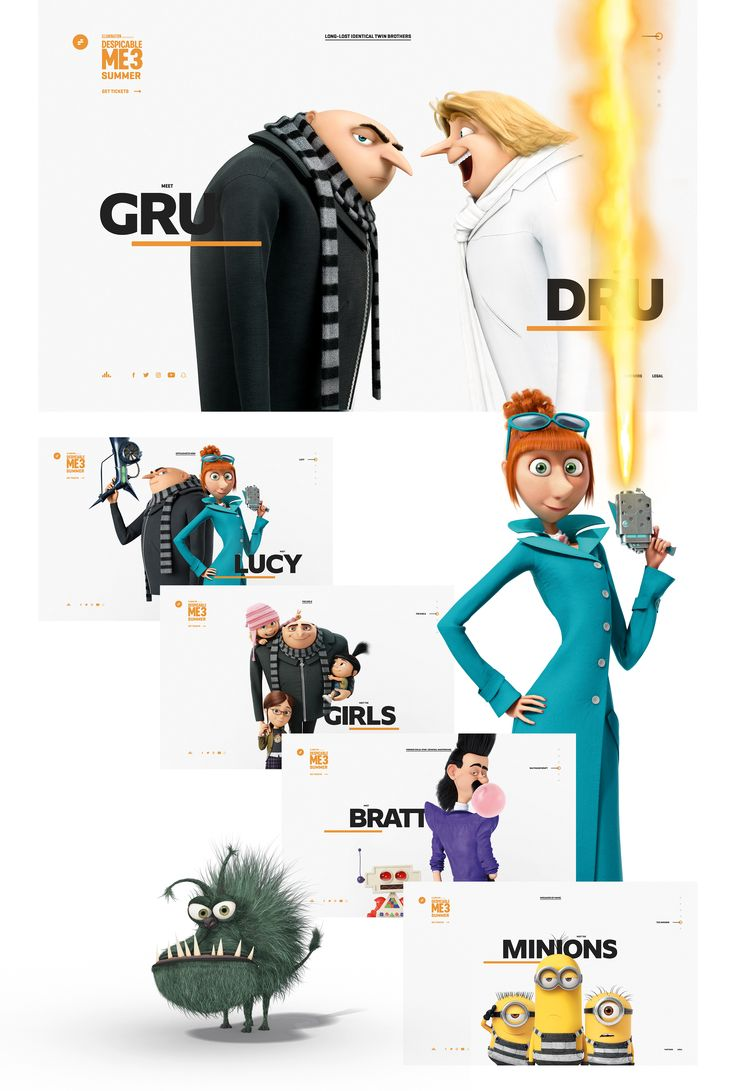 Despicable Me 3 on Behance