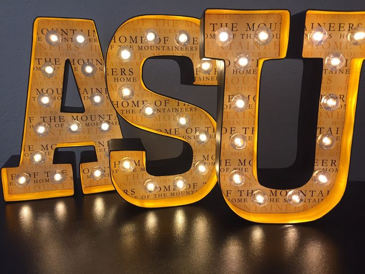 Marquee LED - ASU Appalachian State University by MegansMarquees on Etsy https://www.etsy.com/listing/260801872/marquee-led-asu-appalachian-state
