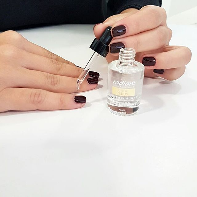 Just got invited on a date and you are running short of time? No worries. Paint your nails in your favorite color and watch them dry in just 30 seconds with Drop and Dry!  #radiantprofessional #dropanddry #manimonday #nails #nailcare #dropndry