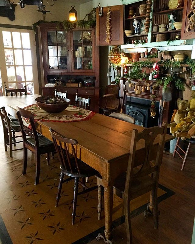 Primitive Kitchen Table And Chairs: 17 Best Images About Primitive Dining Room On Pinterest