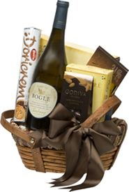 Bogle Vineyards #giftbasket: A bottle of Bogle Wine, assorted gourmet cookies, crackers and chocolate, $99.00 #gifts #wine #1877spirits