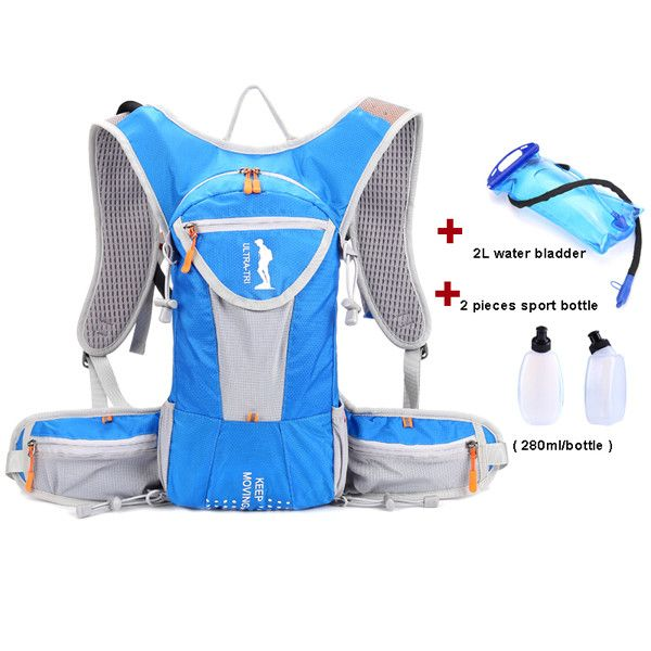 ULTRA-TRI Hydration Trail Running Backpack Outdoor Sport Bag Race Training Professional Lightweight Vest Mochila 12L