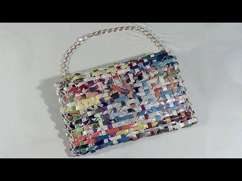DIY - Bolsa carteira de revista - Handbag Wallet Magazine - Revista Purse - YouTube