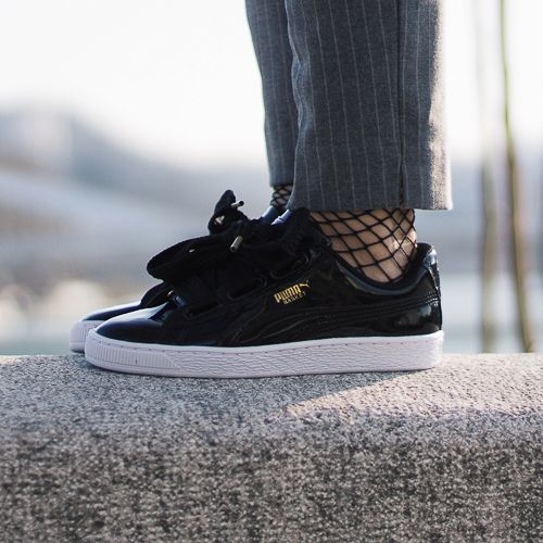 Puma - Basket heart Patent black. Harper Store - Sneakers and Clothes.