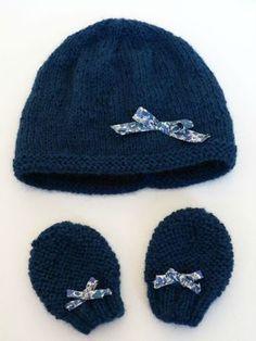 bonnet-tricot-bébé, modèle de Tricot spécial p'tits bouts de Claire Montgomerie, inspiration