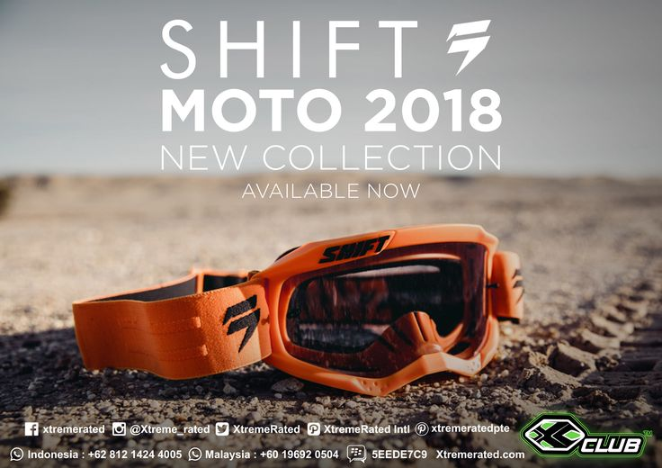 Clear vision | The all-new WHIT3 Label goggle comes with a larger view port, thick 45mm strap, multiple lens color options, and all without breaking the bank | SHIFT MX18 Collection IS HERE! Available now in all XCLUB leading stores |  #xtremerated #xclub #shiftmx #mx #dirtbike #goggles