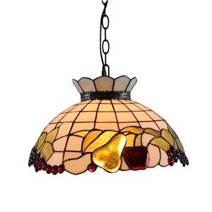 16 inch Suspension style rétro jardin européen Abat-jour en verre forme des fruits luminaire pour salon chambre salle à manger cuisine