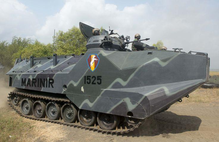 LVTP-7 amphibious assault vehicle of the Indonesian Marine Corps (Korps Marinir) [4128 x 2671]