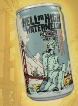 21st Amendment Hell or High Watermelon Wheat  Enjoyed this on the deck watching kite surfers on Hatteras Island.  It will now always remind me of summer.