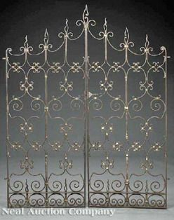 antique iron gates for sale   ... pair of Spanish style wrought iron gates; image credit on full record