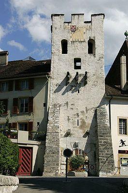 La Neuveville - Tour de Rive, Old City Gate, Switzerland