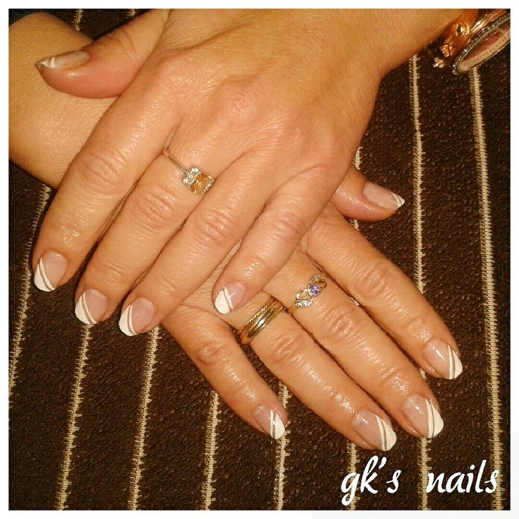 White french manicure mails