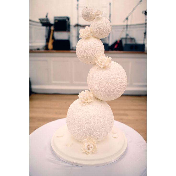 sphere cakes | Gravity Defying Wedding Cake Spheres