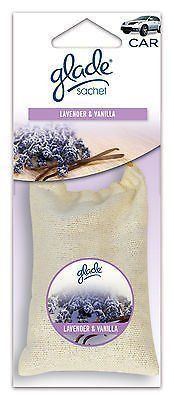 Glade Sachet Hanging Car and Home Air Freshener, Lavender Vanilla Scent Fast Shipping