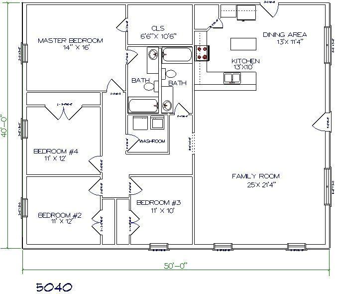 Barndominium Floor Plans | Pole Barn Home | Pinterest | Barndominium