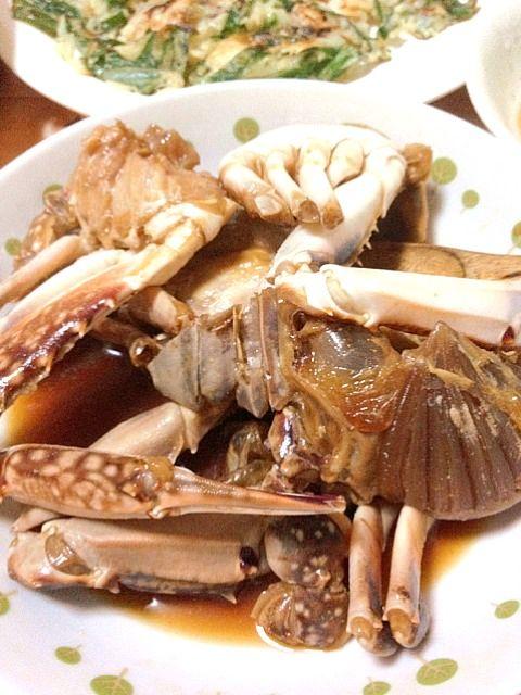 カンジャンケジャンは韓国の渡り蟹のしょうゆ漬け(購入)、海鮮チヂミは手作り、じょ - 4件のもぐもぐ - カンジャンケジャン&海鮮チヂミ by sanfanjp