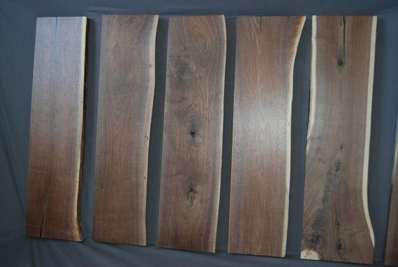 Made to Order Live Edge Walnut Stair Treads Stairs by Teraprom