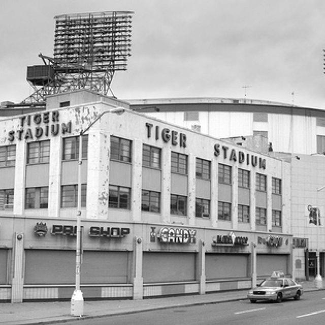 Tiger Stadium, Detroit.  At the corner of Michigan and Trumbull.