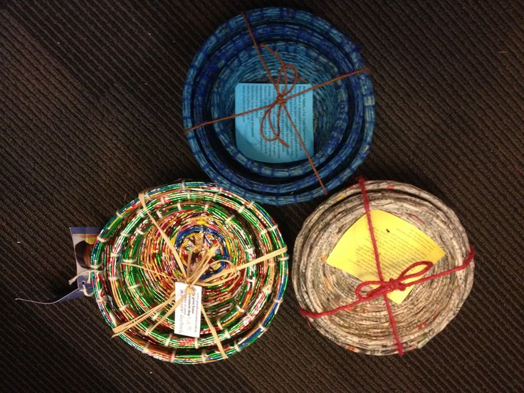 Recycled paper bowls/baskets.  Fair trade and beautiful!