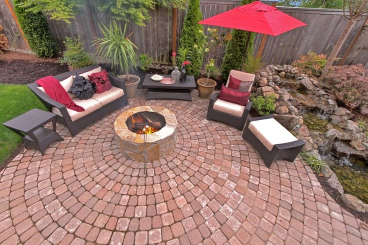 Fun Fire Pit And Water Feature Perfect Paver Patio