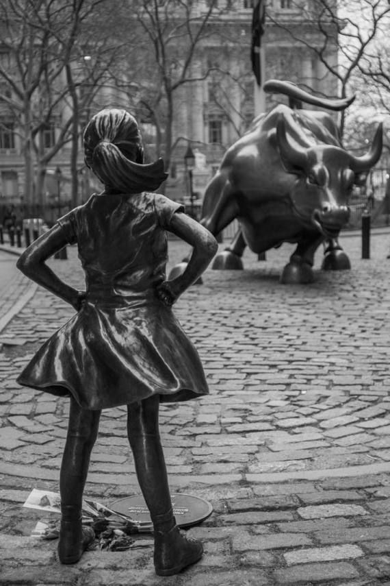 Fearless Girl Statue on Wall Street - Charging Bull Statue - FiDi Manhattan - New York City Photography
