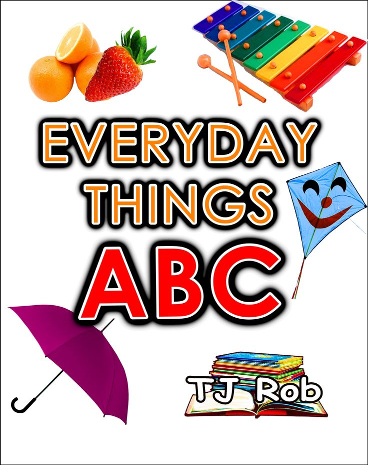 Teach your child the ABC's. Match letters of the Alphabet to images of Everyday Things. Fun and learn to read! For 3 to 5 year olds. #LearnABC #ABC #learntoread #alphabet