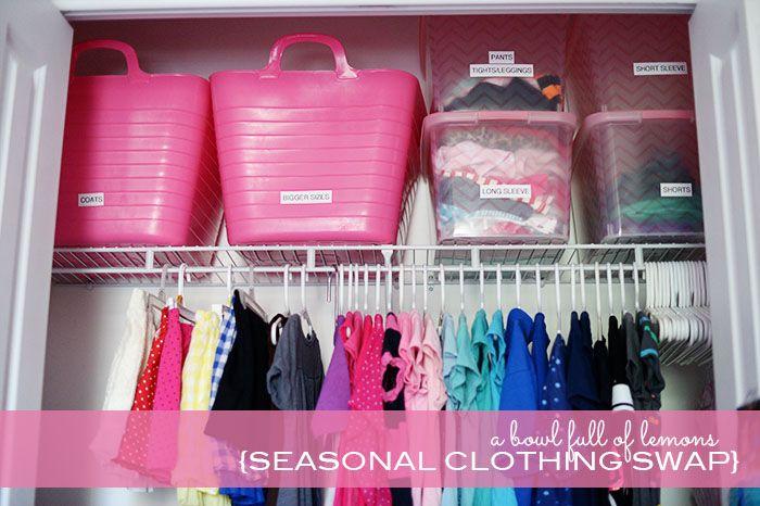 HOW TO ORGANIZE:  Seasonal Clothing Swap via A Bowl Full of Lemons