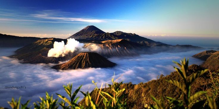Bromo Mountain, Batok Mountain, And Semeru Mountain, East Java, Indonesia