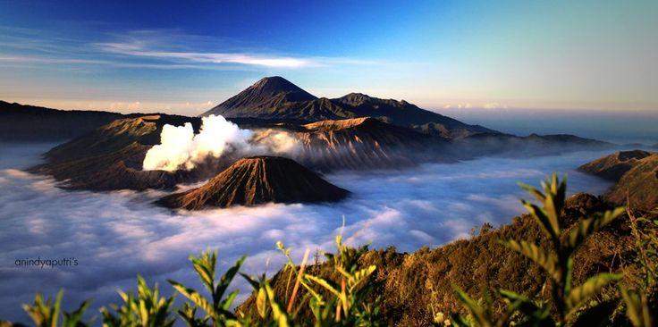 Bromo Mountain, Batok Mountain, And Semeru Mountain, East Java, Indonesia