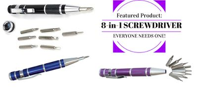 """Don't get """"screwed over"""" - EVERYONE needs one of these gadgets: 8-in-1 Screwdriver $9.95.  http://www.mrgift.com.au/gadgets/screwdriver-precision-8-in-1.html #screwdriver #gadgets #giftsformen"""