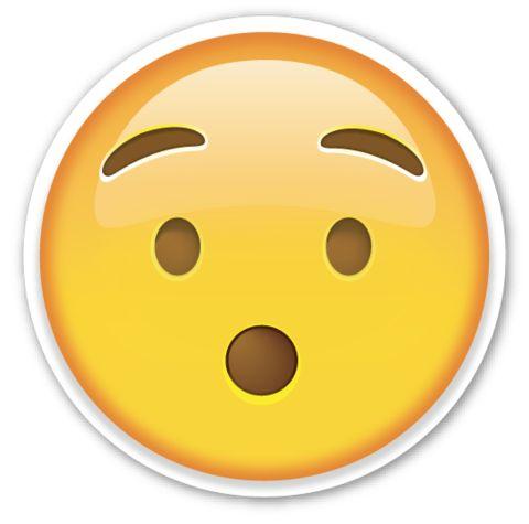 Hushed Face | EmojiStickers.com