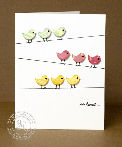 card by Jennifer McGuire-   I want to CASE this with flower diecuts