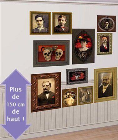2 Scene Setter Gothic Mansion Portraits Wall Mural @ niftywarehouse.com #NiftyWarehouse #Halloween #Scary #Fun #Ideas