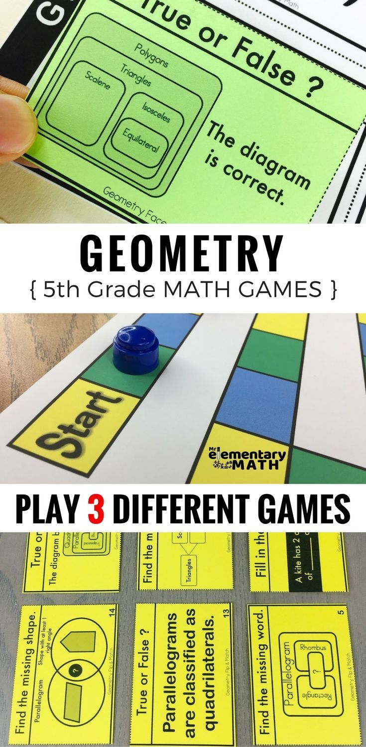 5th Grade Geometry Games and Centers | 2-D Shapes and Attributes ...