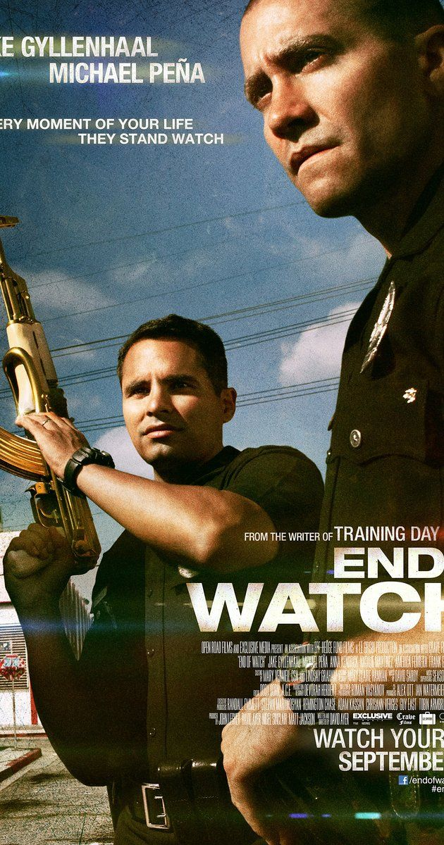 Directed by David Ayer.  With Jake Gyllenhaal, Michael Peña, Anna Kendrick, America Ferrera. Shot documentary-style, this film follows the daily grind of two young police officers in LA who are partners and friends, and what happens when they meet criminal forces greater than themselves.