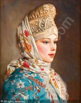 NAGORNOV Vladislav,Retrato de muchacha,Durán,Madrid