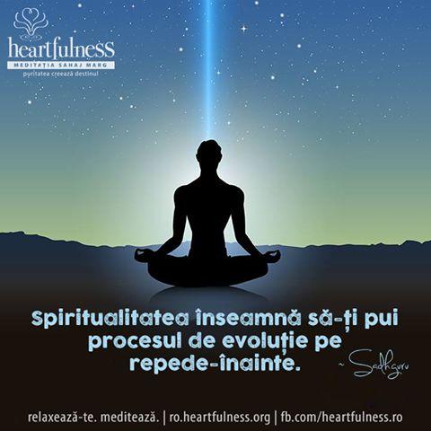 Spiritualitatea înseamnă să-ți pui procesul de evoluție pe repede-înainte. ~ Sadhguru #heartfulness #knowbyheart #hfnro Heartfulness România - Google+