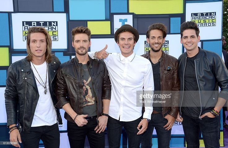 Recording artists Martin Ceballos, Luis Gonzalvo, Andres Ceballos, Nacho Gotor and Alberto Gonzalez of Dvicio attend the 2016 Latin American Music Awards at Dolby Theatre on October 6, 2016 in Hollywood, California.