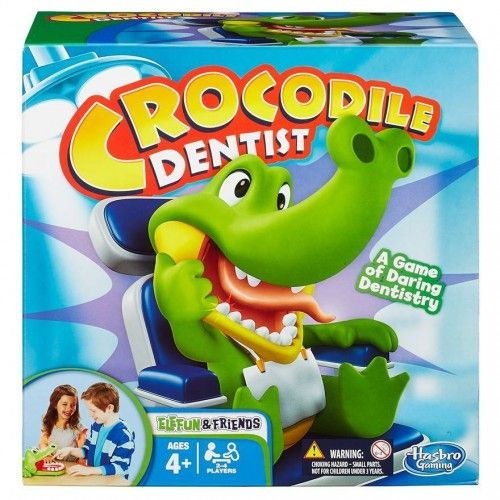 Watch out for the cranky croc's champers! this hilarious Crocodile Dentist game challenges you to watch out for silly jock croc's sore tooth.  #sensorytoywarehouse #boardgame #dentist #crocodile #fun #social