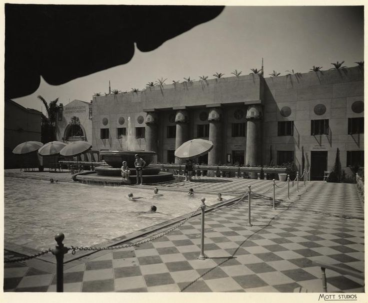 The Ambassador Hotel Wilshire Boulevard Los Angeles Ca Swimming Pool Ca 1930 39 S Los