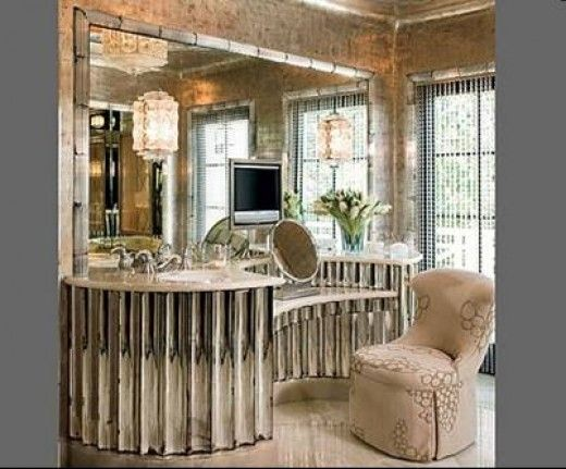 Hollywood Style Makeup Mirrors   Hollywood Regency Dressing Table   How To  Get The Look For Less   Vanities   Pinterest   Hollywood Regency, Dressing  Tables ...