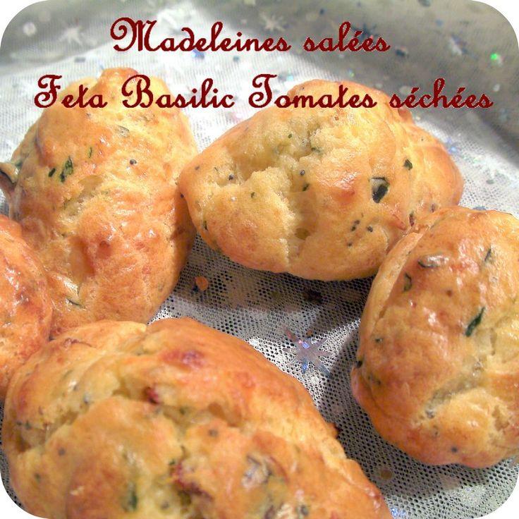 Madeleines salees feta basilic tomates sechees