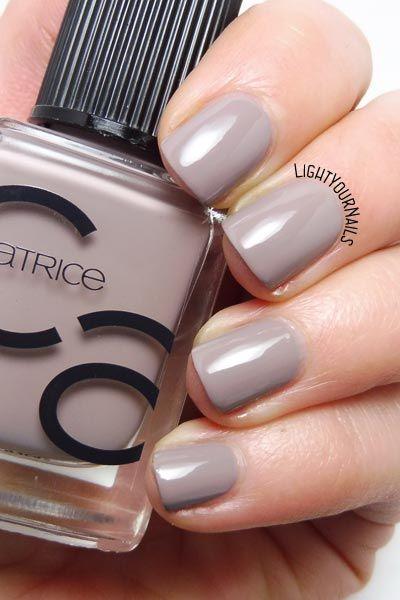 Catrice ICONails 27 Lana del Grey taupe nail polish swatch #catrice