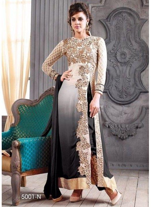 Black-Designer Salwar Suit-Styloway