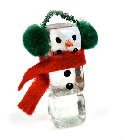 Ice Cube Snowman Holiday Craft Project – Handmade Ornament